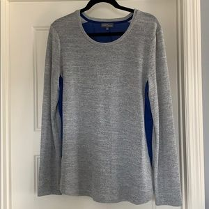 Gray and Blue long sleeve top